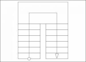 схема п-образной лестницы