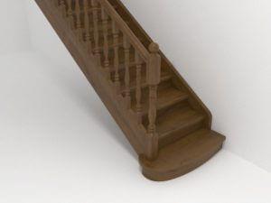 прямая лестница коричневая